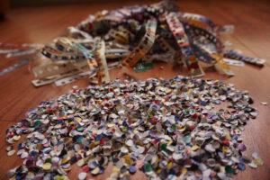 Zelfgemaakte confetti